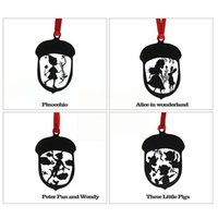 Wholesale 20 sets of Cute Pinocchio Alice In Wonderland Peter Pan Three Little Pigs Black Metal Stainless Steel Bookmarks For Books Gift