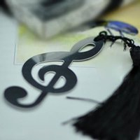 Wholesale Music Note Alloy Bookmark Novelty Document Book Marker Label Stationery HOT SEARCH