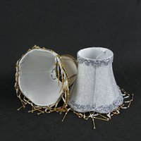 antique lace fabric - x x cm modern lace crystal Chandelier lampshade Golden Silver fabric wall light lamp shades LS59065L