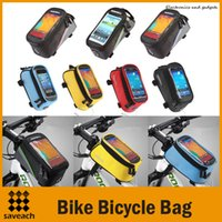 Wholesale 7 Style Outdoor Cycling Sports bag Bike Bicycle bag Frame Front Tube pannier for Cell Phone GPS Bag PVC Polyester Material