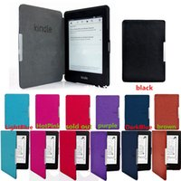 Wholesale New Arrivals Ebook Reader Accessories Kindle Paperwhite Ultra Slim Magnetic Smart Case Cover PU Leather Colors Fashion HX14