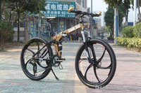 folding bikes - 27 Speed Mountain bike Magnesium Road bicycle folding bicycle made of Aluminium Alloy inch tire inner tube