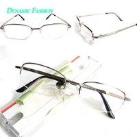 aspherical mirror - Dynamic Fashion Silver Reading Glasses Comfy Eyeglasses Half Frame Hyperopia Mirror Aspherical