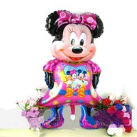 Wholesale Large Size x58cm Mickey Minny Mouse Foil Balloons Cartoon Globos Birthday Decoration Wedding Party Inflatable Air Balloons