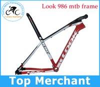 Wholesale Red color LOOK Mountain bike ER ER MTB carbon frame with stem BLACK LABEL WHITE COLOR size S M color sell look frame