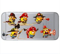 For Apple iPhone clear plastic case - UK USA Flag Minions Hard PC Case For iphone Plus S Plus S ME3 Plastic Print Despicable Me Cartoon Cute Lovely Cover Skin