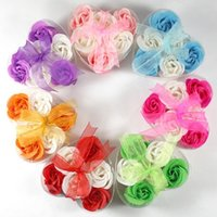 Wholesale Heart Shape Rose Soaps Flower Packed Wedding Supplies Gifts Event Party Supplies Favor colors set Hot Sales