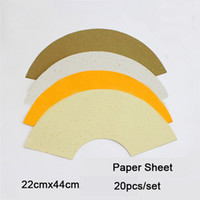 Wholesale set Fan Shape Blank Canvas Chinese Painting Paper for Painting amp Making the Fan