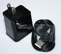 Wholesale 2 in EU US wall charger power charger Micro cable for Samsung Tab DHL