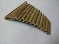 Wholesale Hot Selling Pipes ABS Plastic Romania UU Panpipes G Key Panflute Musical Instrumentsr Golden color Pan flute with Base