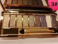 beauty shine - Professional beauty eye shadow Diamond shining smoked makeup Natural and lasting Brand Wei Ni Xiao Xiong Gold Eyeshadow