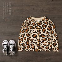 Wholesale 2015 New children s cardigan jacket baby girls fashion Leopard cashmere sweater long sleeved round neck leopard sweater baby coat C001