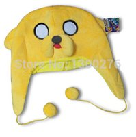 adventure time finn the human - style Adventure Time with Finn and Jake soft plush hat lovely yello dog finn the human warm hat cosplay costume Beanies cap