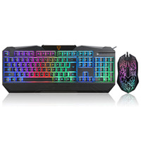 Wholesale MOTOSPEED USB Wired Esport Gaming Keyboard amp DPI Adjustable Optical Mouse Combo with LED Backlit for PC Laptop Notebook
