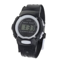 attractive clock - Attractive Color Boys Girls Students Time Clock Electronic Digital LCD Wrist Sport Watch SP7