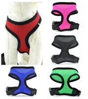 Wholesale 100PCS colors high quality Soft Air mesh Dog Harness Puppy Pet Harness nylon mesh harness Dog Collars D559