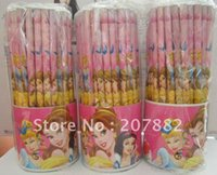 Wholesale Free Shiping Fashion Princess Pencil Wooden Pencil Set Stationery Set set A0740 on Sale