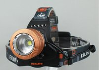 Wholesale Boruit Headlamp Lumens CREE XM L T6 LED Lamp Waterproof Headlamp Zoomable Headlight With AC Charger