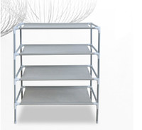 Wholesale 1604 stainless steel Simple combination of magic four layer shoe rack Home Furniture