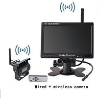 Wholesale Wireless Car Rear View Camera HD quot Monitor for Truck Trailer LED x Antenna