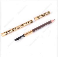 Wholesale Perfect Eyebrow Pencil Eye Brow Pen Waterproof Longlasting Eyeliner Black Pencil Brush Makeup Eyebrow Enhancers
