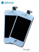 Wholesale Original LCD for iPhone4 iphone4 s Gen full complete LCD with digitizer panel screen glass display free DHL