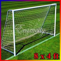 Wholesale 8 x4ft High Impact Flexible Light Football Net Soccer Goal Post x1 m for Poly Samba Junior Sport Match Double Knotted