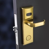 Wholesale RF Card Hotel Door Lock IC card hotel lock Contactless smart Card hotel lock with DND and panic release function