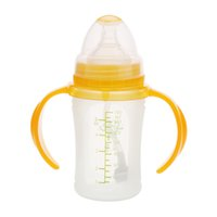 Wholesale 160ml Silicone Milk Feeding Bottle Nipple with Handle for Baby Infant