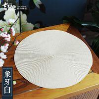 Wholesale JIXIANGJIA New Chinese style eat mat waterproof insulation pad tea service ideas of circular western dishes mat pot pad plate mat