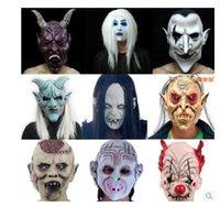 Wholesale Crazy Halloween masquerade mask terrorist silicone emulsion put simulation skin mask false face many style can choose