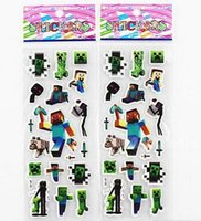 Wholesale 2015 New creative Minecraft Creeper Stickers Minecraft Kids stickers Minecraft Kids Toys Minecraft Kids Gift LJJD2200