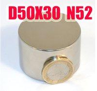 D50 * 30MM BIG aimant néodyme NdFeB n50 D50X30MM des aimants puissants de néodyme aimant permanent lodestone super livraison gratuite