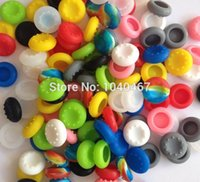 Cheap 500pcs lot Silicone Cap Thumbstick Thumb Sticker Cover Case Skin Joystick Grips For PlayStation 4 PS4 PS 4 Wireless Controller
