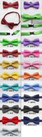 Wholesale 2016 Promotion Unisex Bow Tie Ties baby Tie Children Necktie Baby Fashion Cute Polka Dots And Pure Color Hot Kids Cotton Adjustable
