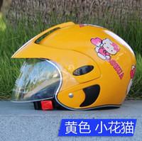 Wholesale Motorcycle helmet children kid helmet half face helmet capacete