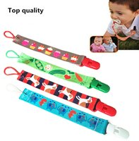 Wholesale Pacifiers Clip styles Cartoon Pacifiers holders Infant Baby Pacifier Chain Baby Feeding supplies InfantPacifier Holders clip D189