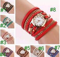 designer watches - 2015 luxury women watch ladies designer leather watches fashion watches wrist watch round dial charming infinity Bracelets Watches