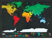 big poster size - Hot Sale Travel Scratch Map Of The World Wall Decal Decor Poster Scratch Map for Education Big Size cm