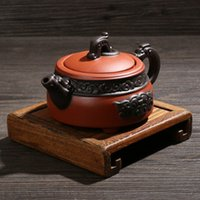 antique chinese teapot - Antique pot Authentic Yi xing teapot Chinese purple clay kettle kongfu tea set cc traditional chinese clay craft