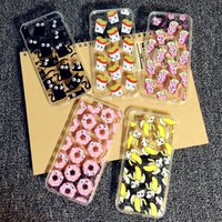 banana french - Cute Cartoon Banana Donuts Popcorn French Fries Cat D Rotating Small Eyes TPU Case For iPhone s S Plus Free ship MOQ