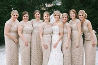 Cheap Champagne Bridesmaid Dresses Best Lace Bridesmaids Full Length