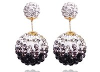 diamond earrings - women s stud earrings fashion jewelry earring for women Ear ring accessories diamond double bead
