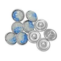 Wholesale White K color Noosa DIY button round button bracelet accessories hot metal personality noosa snap button