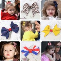 best baby things - best selling Baby Hair Accessories Girl Hair Clips Hair Things Leopard Bow Clip Girls Barrettes Childrens Accessories Kid Hair Slides