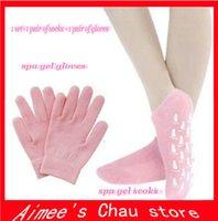 Wholesale Pair Socks Pair Gloves Spa Gel Socks Gel Gloves Foot Hand Care Moisturizing Treatment