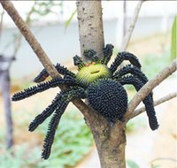 artificial spider - April Fools Day Horrific Novelty Artificial Spider Prank Toy Simulation Trick Toy
