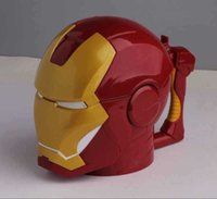 plastic tea cups - 2015 new style star wars ml Iron Man Helmet Shaped Plastic Coffee Mug Cup Holder D Tea Cup Drinkware Snack Container