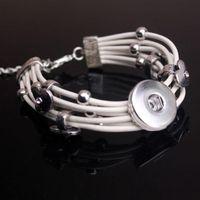 Wholesale Fashion New Interchangeable silver gold chain bracelet ginger snap mm button bracelet jewelry