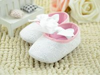 baby boutique shoes - Boutique Baby toddler First Walker Shoes kids toddler girl princess flower bowknot soft bottom non slip shoes white pink cm cm cm